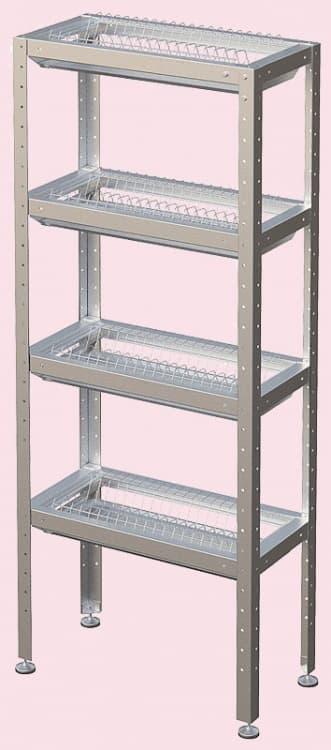 Стеллаж кухонный для тарелок и стаканов СКТС- 1200-Э
