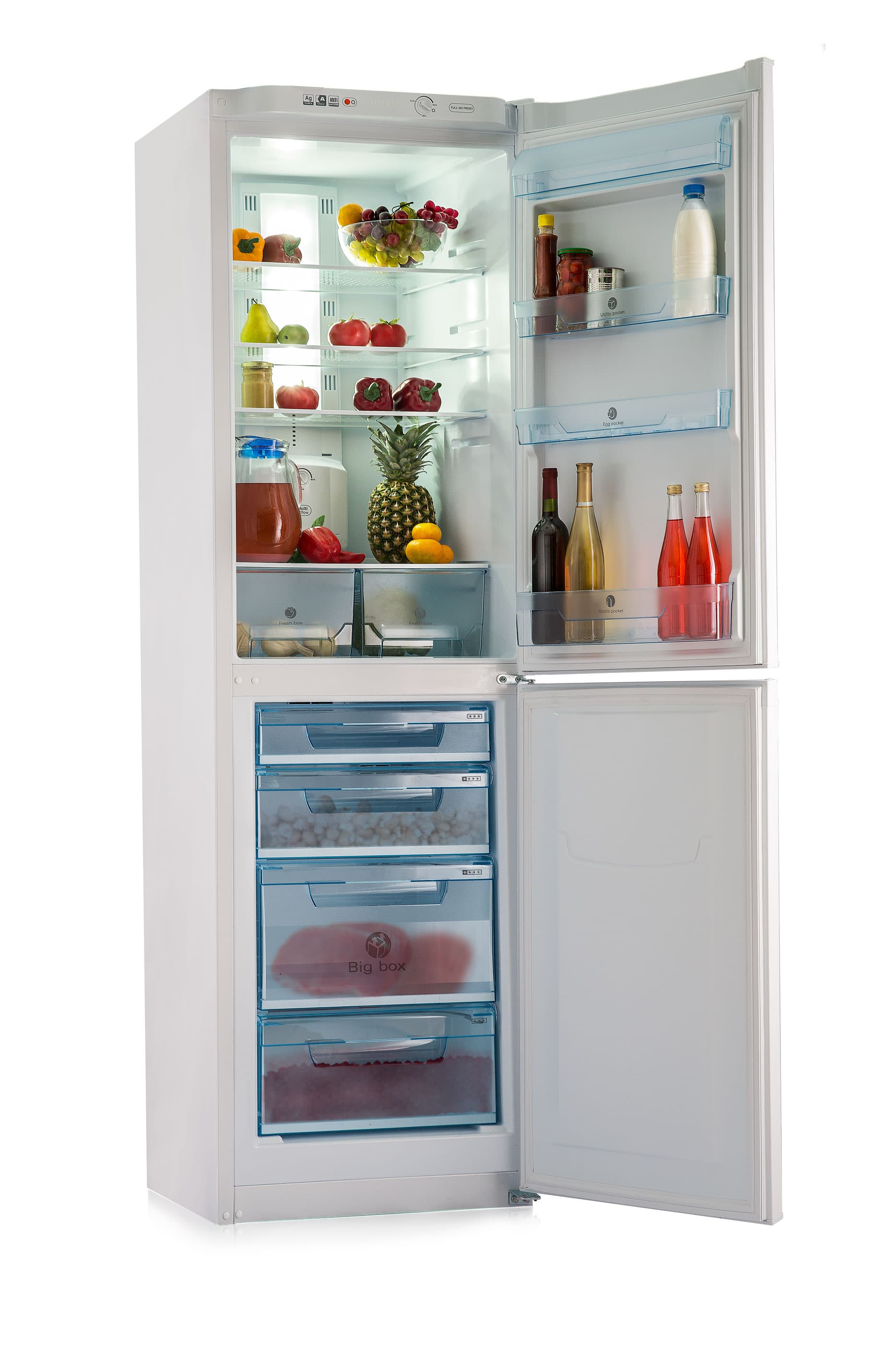 Шкаф холодильный RK FNF-172 белый