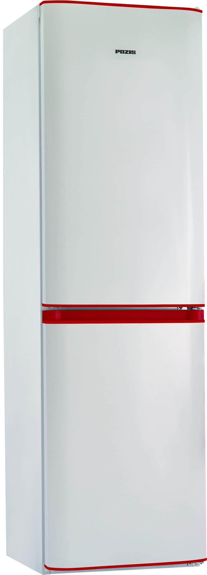 Шкаф холодильный RK FNF-172 белый с рубиновыми накладками
