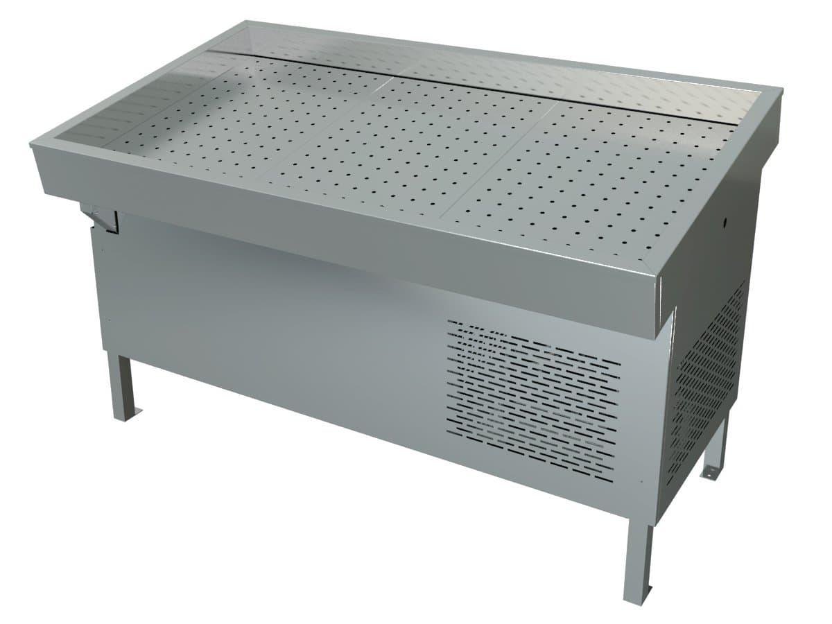 Витрина холодильная «Рыба на льду» ПХС-1,55/0,85 (встроенное холодоснабжение)