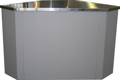 Угловой неохлаждаемый прилавок Полюс У-1 (внешний)
