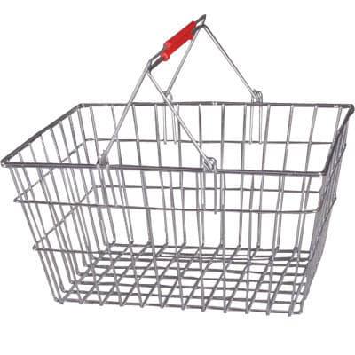 Покупательская корзина 0345-20 красная