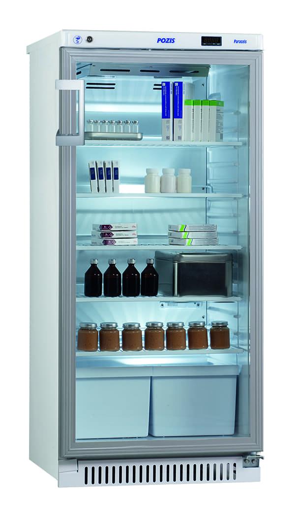 Шкаф фармацевтический ХФ-250-3 тонированное стекло
